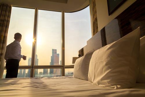 景色の良いベッド