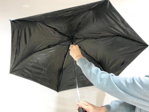 折りたたみ傘開封