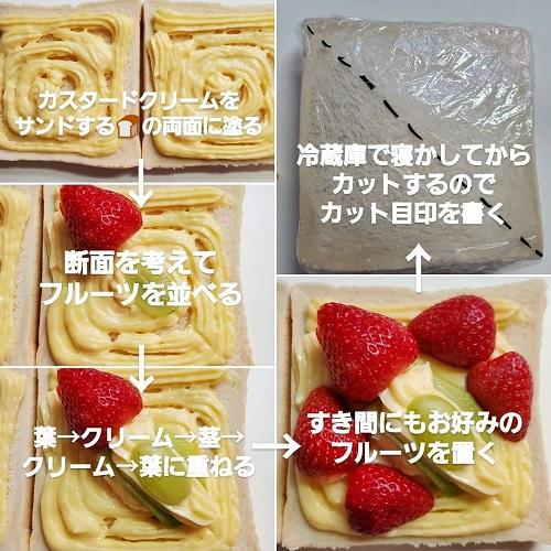 お花サンド作り方