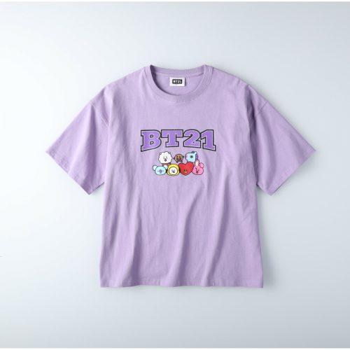 BT21の紫のTシャツ