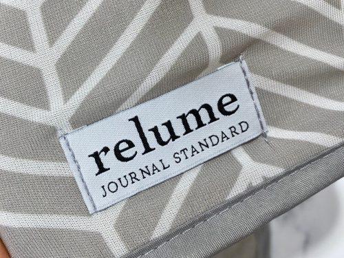 リンネル9月号増刊号付録・接触冷感タオルに入ったrelumeのロゴ