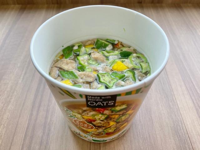 オーツミートと野菜のスープ  コンソメ