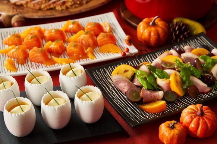 ハロウィンラインチ軽食ビュッフェ前菜