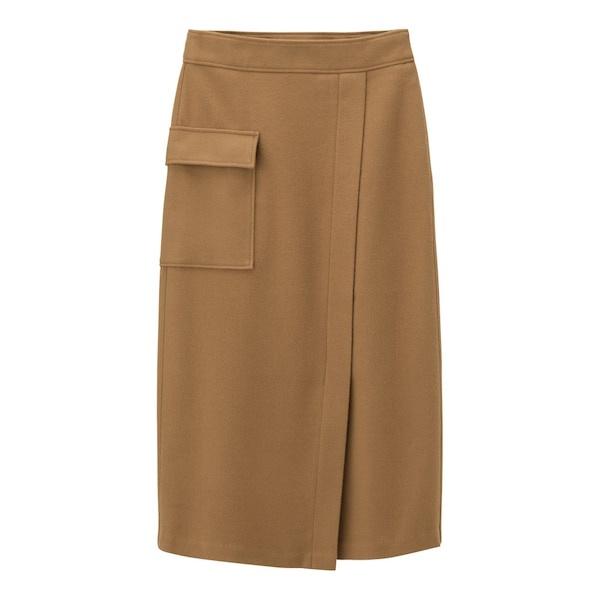 GU ポケットナローミディスカート