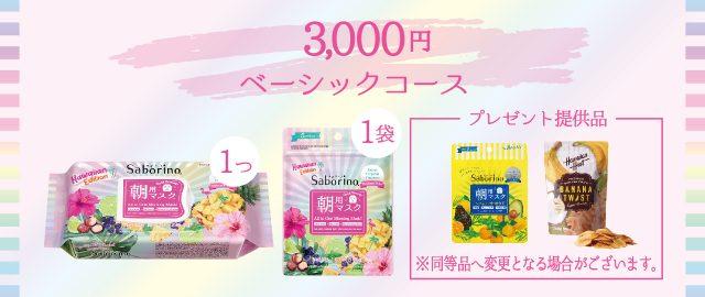 【サボリーノHAWAII】CAMPFIRE クラウドファンディングの返礼品・ベーシックコース