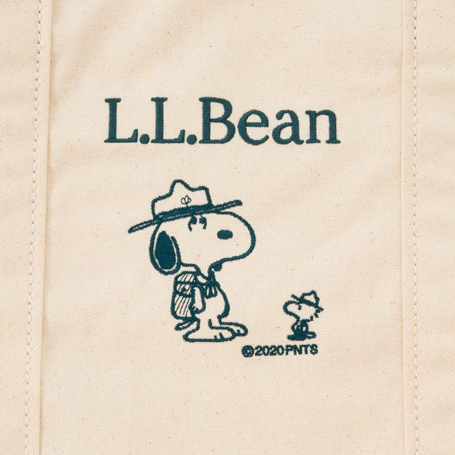 L.L.Bean×ピーナッツ・グローサリー・トートのデザイン(ナチュラル)