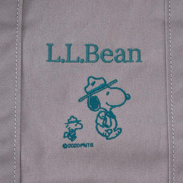 L.L.Bean×ピーナッツ・グローサリー・トートのデザイン(プラチナム)