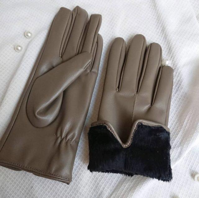 フェイクレザー手袋