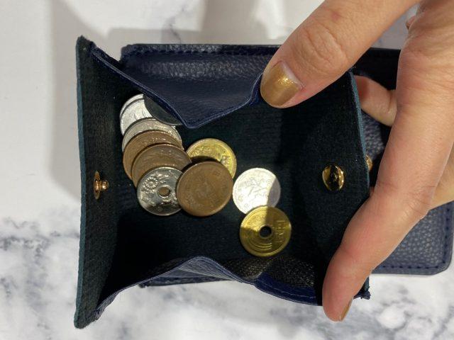 クレイサスの財布に小銭を入れたところ