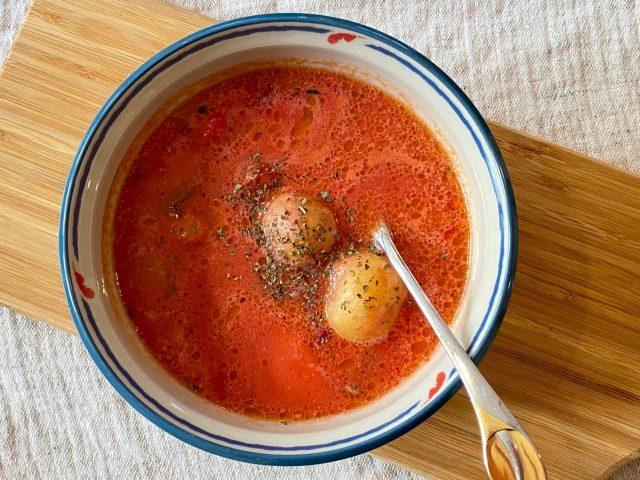 グリーンスプーントマトシチュー完成