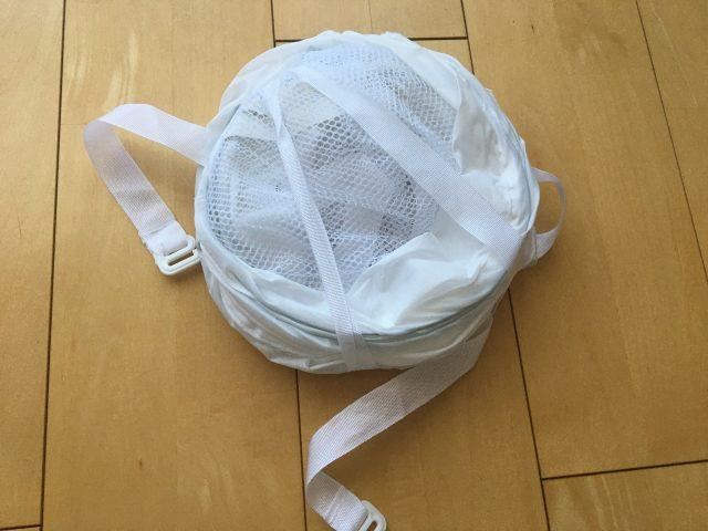 スリーコインズ衣類干しネット折り畳み時