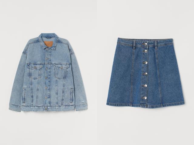 オーバーサイズジャケット&Aラインスカート