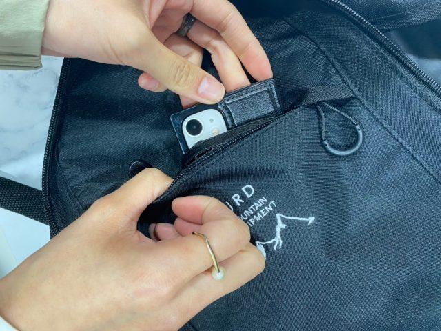 URBAN RESEARCH DOORSバックパックのポケット