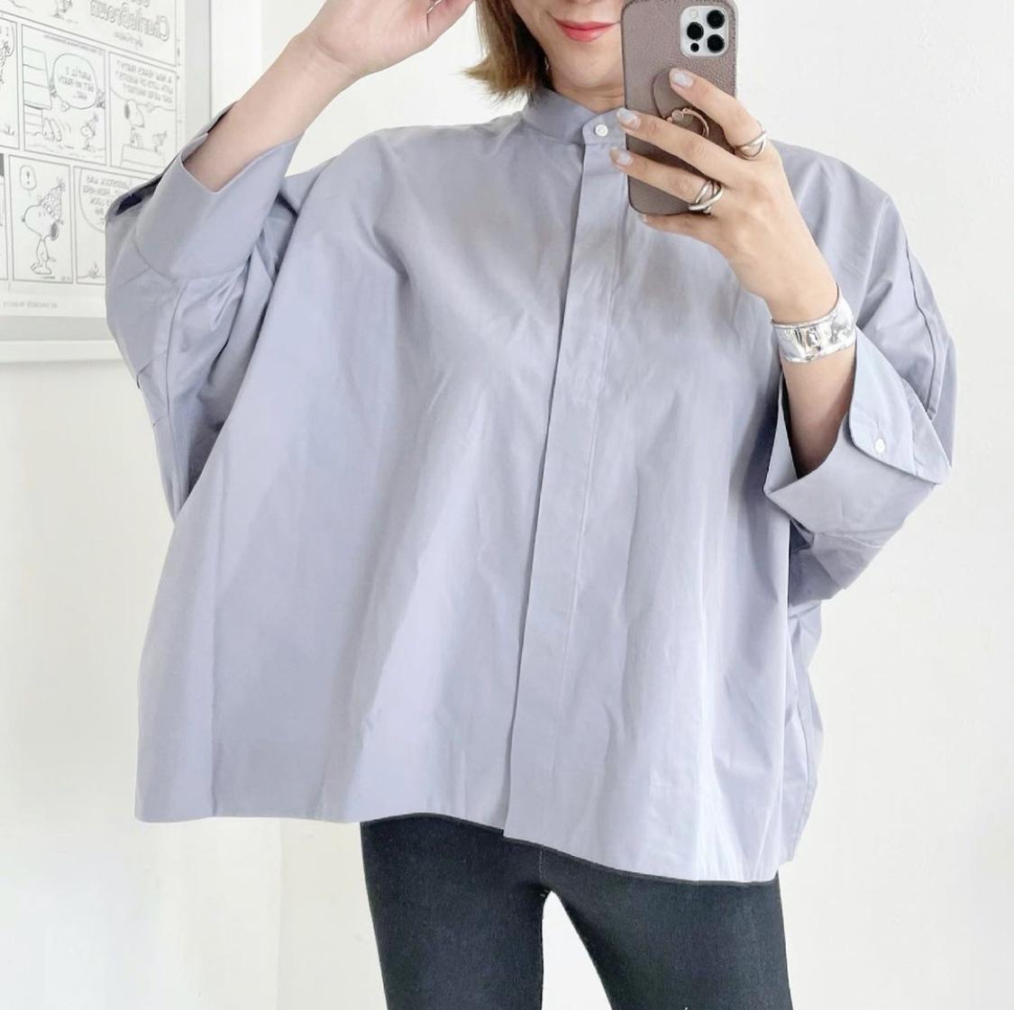 スーピマコットンドルマンスリーブシャツ(7分袖