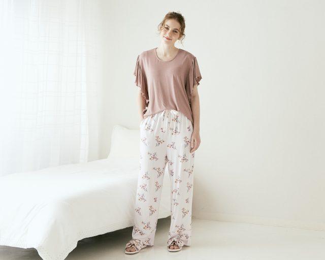 フラワープリント パジャマ
