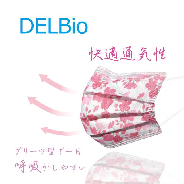 DELBio おしゃれマスク・通気性の良さを表すイメージ画像