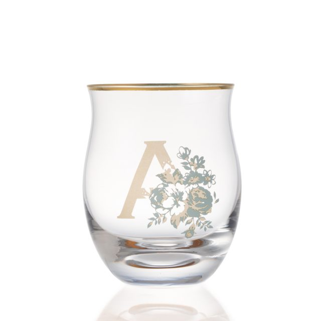 フラワー イニシャル グラス