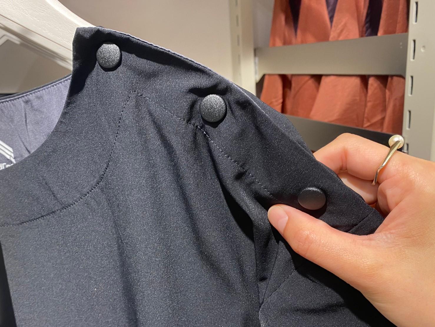 ハイストレッチUVリラックスワンピース肩ボタンの画像