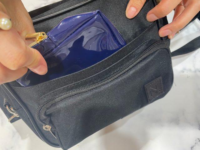 N. Natural Beauty Basic 10ポケットショルダーバッグのフロントポケット