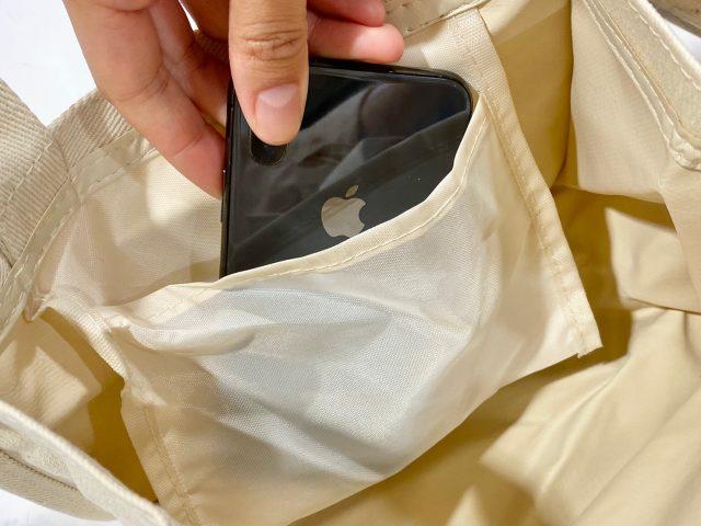 ねこねこ食パン ランチトートバッグの内ポケット