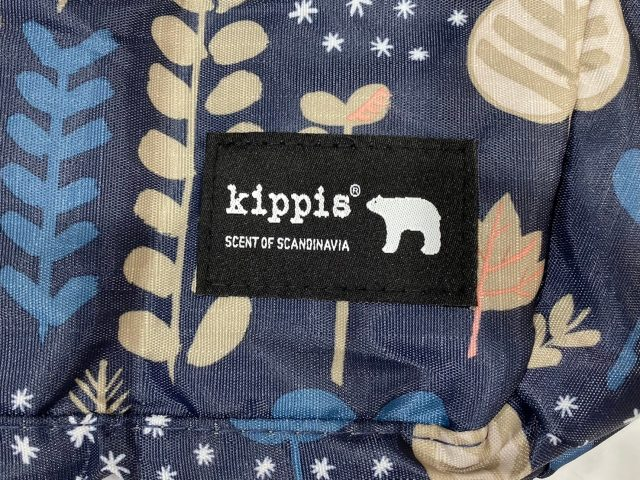 kippis V字スリット入りのエコバッグのブランドタグ