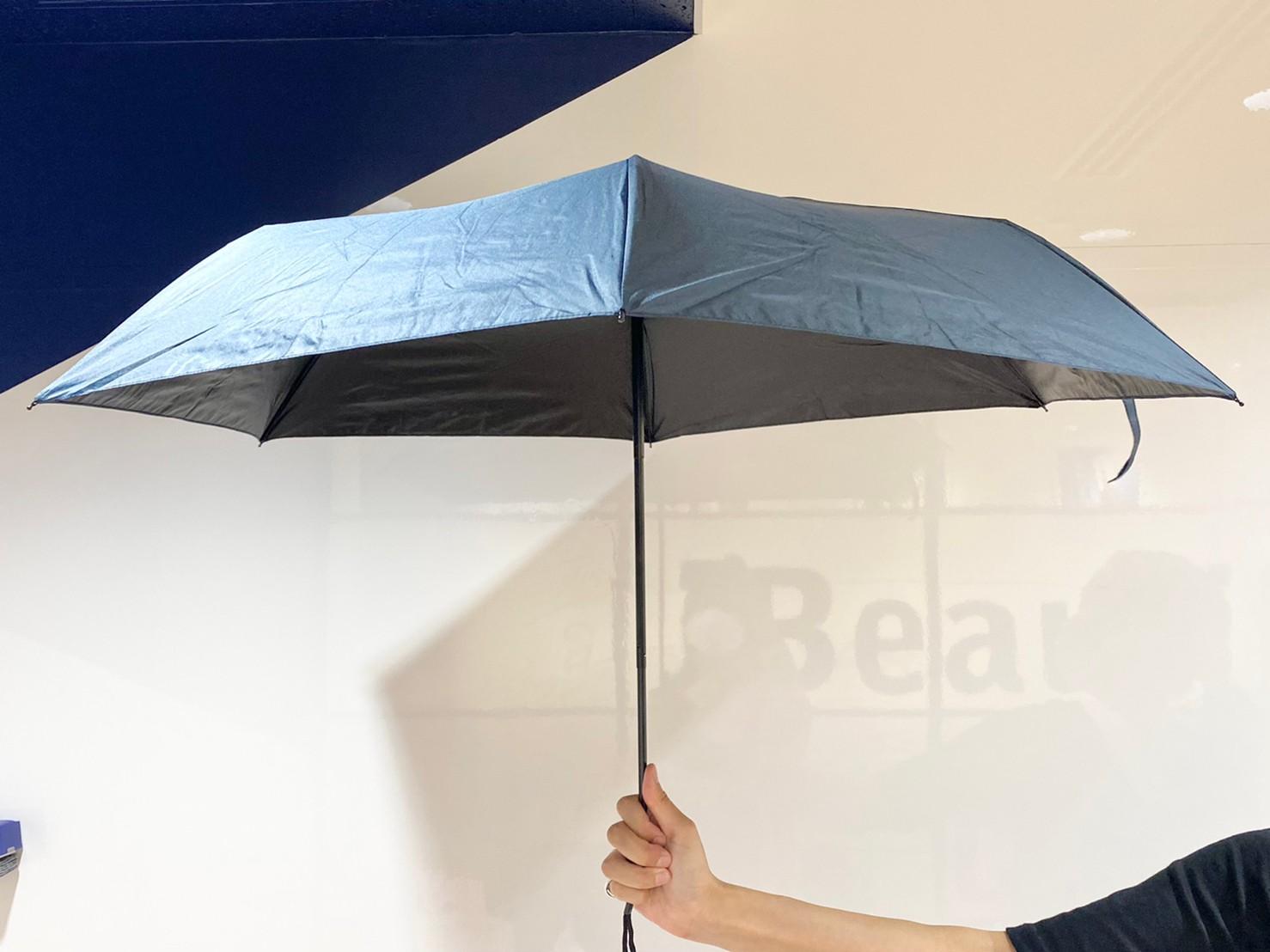 『晴雨兼用折りたたみ傘』を開いた画像