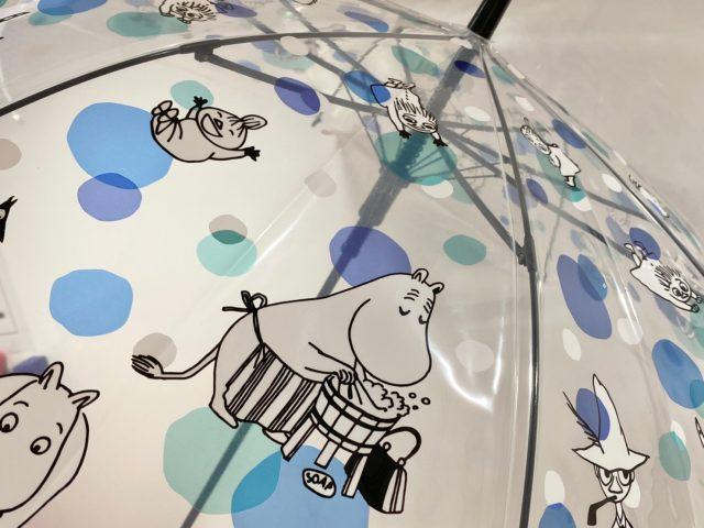 ムーミンの傘にプリントされているイラスト