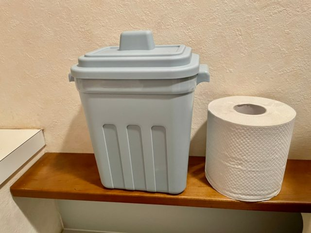 トイレでの収納