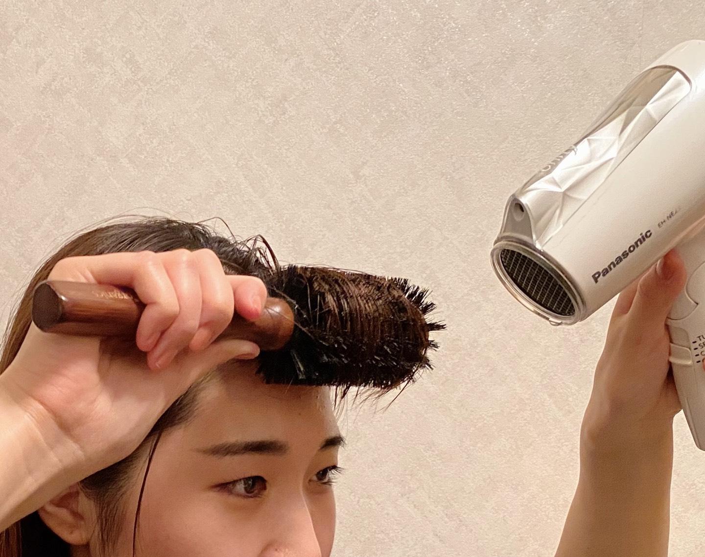 流し前髪を作る手順