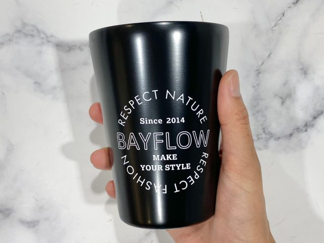 BAYFLOW カップコーヒータンブラー・マットブラック