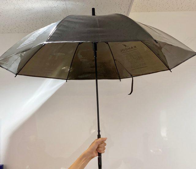 KANGOLの傘を開いたところ