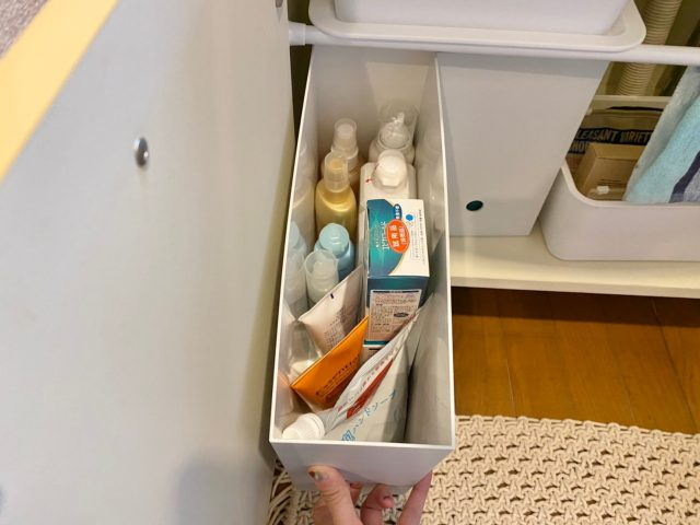 100均ファイルボックス洗面所収納