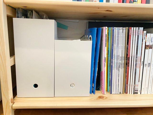 100均ファイルボックス棚収納